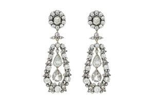 Antique Victorian diamond earrings at Susannah Lovis