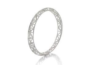 Claire Macfarlane silver Asymmetric bangle