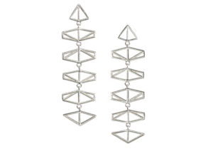 Claire Macfarlane silver Chevron earrings