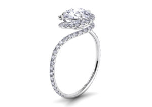 Danhov white gold and diamond engagement ring at Savvy + Sand