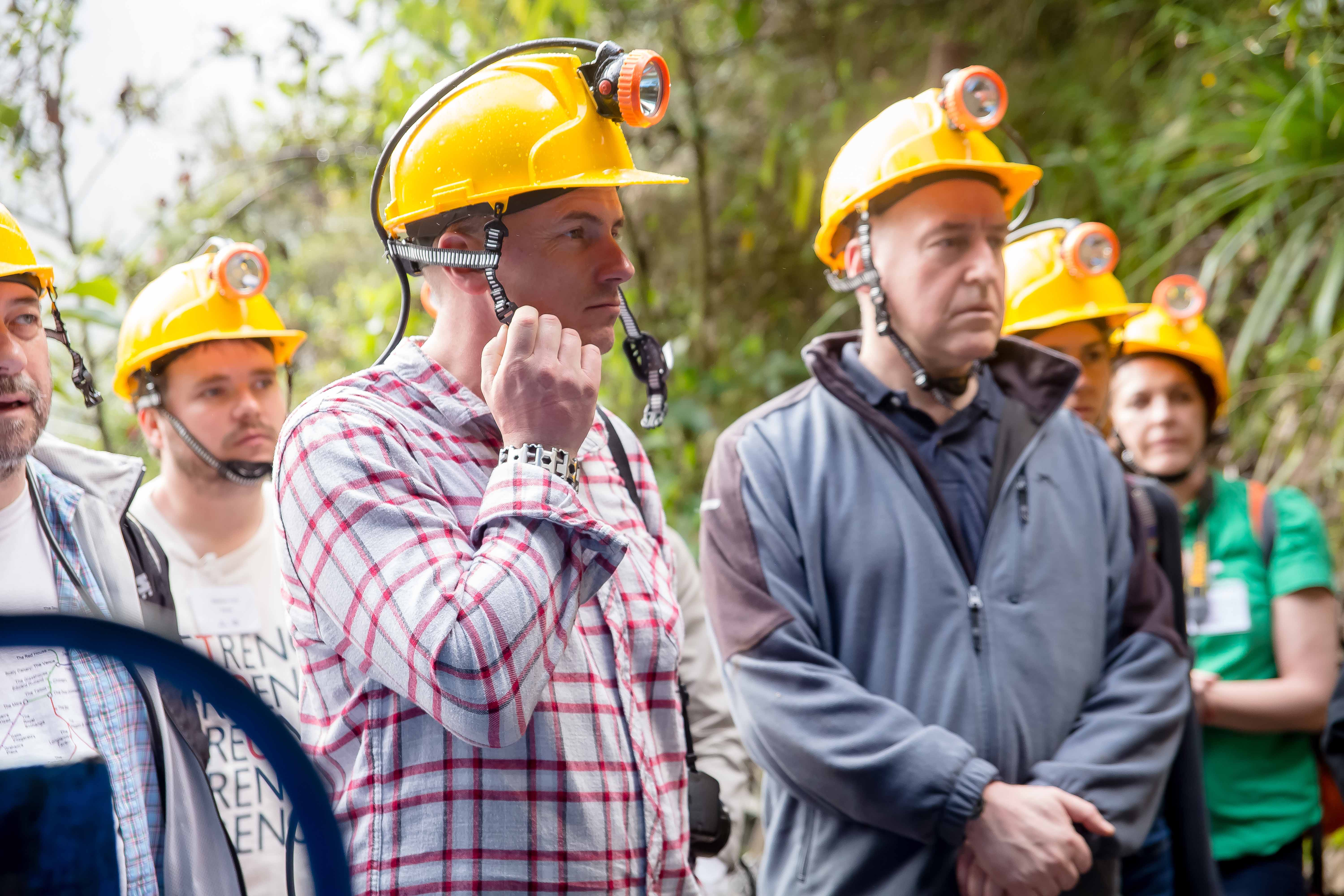 Ian Nicholson on site at a gold mine