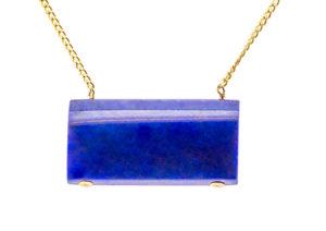 Lila's lapis lazuli and Fairtrade gold Sleek necklace