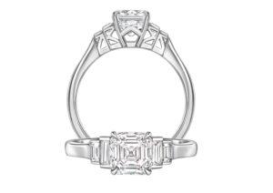 Phillip Stoner white gold and diamond Ava engagement ring