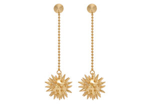 Phine London yellow gold-plated Morning Star earrings