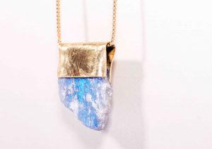Atelier Nallik labradorite and brass pendant