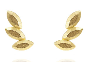 WWAN1 yellow gold vermeil Juni earrings