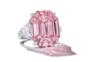 The Winston Pink Legacy, an 18.96ct rectangular-cut fancy vivid pink diamond, sold at Christie's Geneva in November 2018
