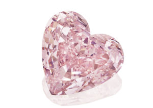 A necklace set with a 15.56ct heart-shaped fancy intense pink diamond, sold at Christie's New York in December 2018