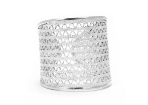 Arabel Lebrusan Fairmined silver filigree From Colombia with Love ring