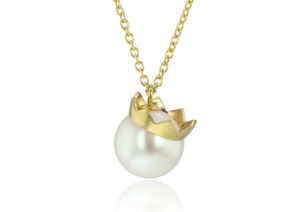 Frances Wadsworth Jones 18ct yellow gold and pearl King necklace