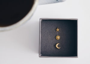 Hutch London yellow gold-plated silver Celestial ear studs