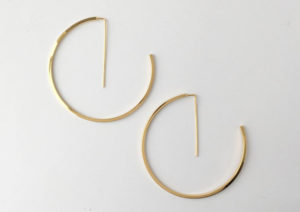 Jake McCombe gold-plated silver G earring