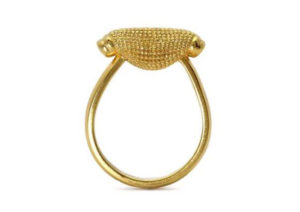 Rosie Kent gold-plated silver Maxilla Pod ring