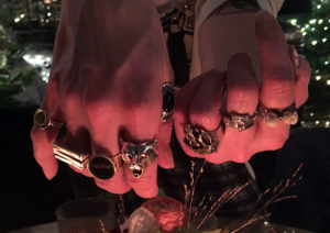 Fistfuls of rings worn by Kat Manning remind her of her mother