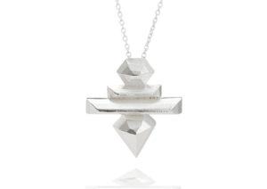 WWAN(1) silver Cosmo necklace