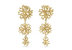 Lylie's yellow gold The Kwe Kwe Coral earrings