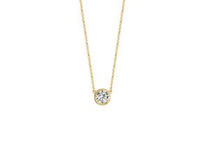 Kimaï 18ct yellow gold and 0.43ct lab-grown diamond Soul pendant