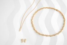 Lark & Berry yellow gold and lab-grown diamond Wave collection