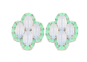 Lemuria Jewels chalcedony and chrysoprase earrings