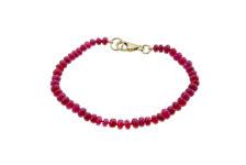 Roseheart Jewels garnet bead bracelet