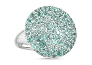 Roseheart Jewels white gold and Paraiba tourmaline cocktail ring