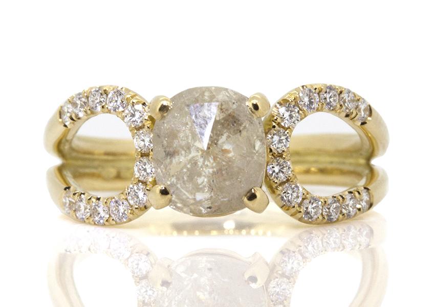 Sorrel Bay diamond and yellow gold Eternal ring