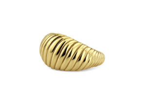 Lylie's yellow gold Wave ring