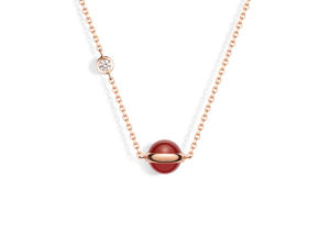 Piaget 18ct yellow gold, diamond and carnelian Posession necklace