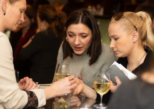 Guests at The Jewellery Cut Live browse the filigree gold jewels of Dutch designer Amma Jewelry