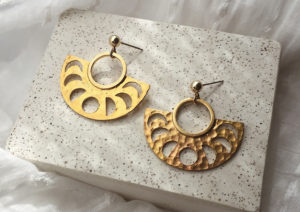 Cult of Youth gold-plated brass Moon Sequence earrings