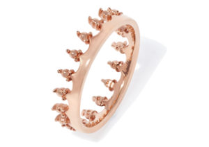Annoushka rose gold Crown ring