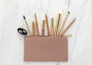 Beauty Edit Mayfair pouch with essential eyebrow tools