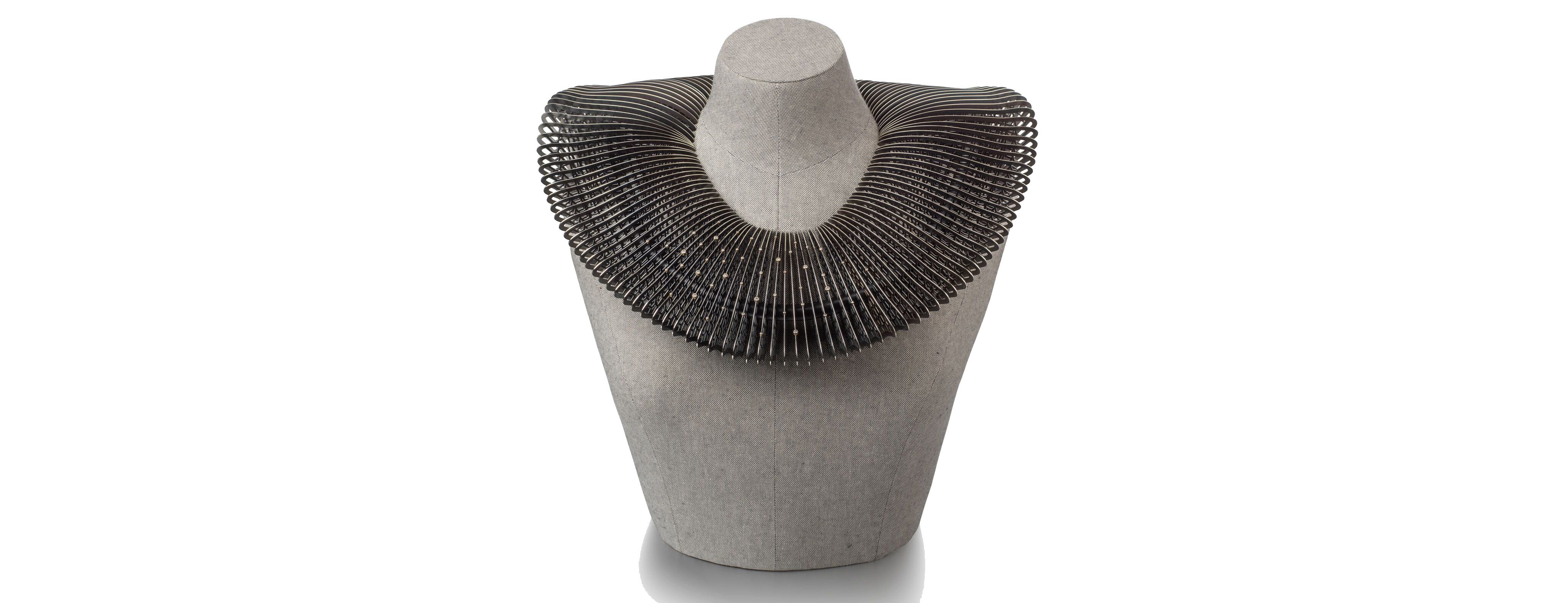 Lacewing Verto Necklace by John Moore, who won two awards at the Goldsmiths Craft & Design Council Awards 2019