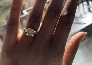 Sherrille Riley's yellow diamond engagement ring by Graff