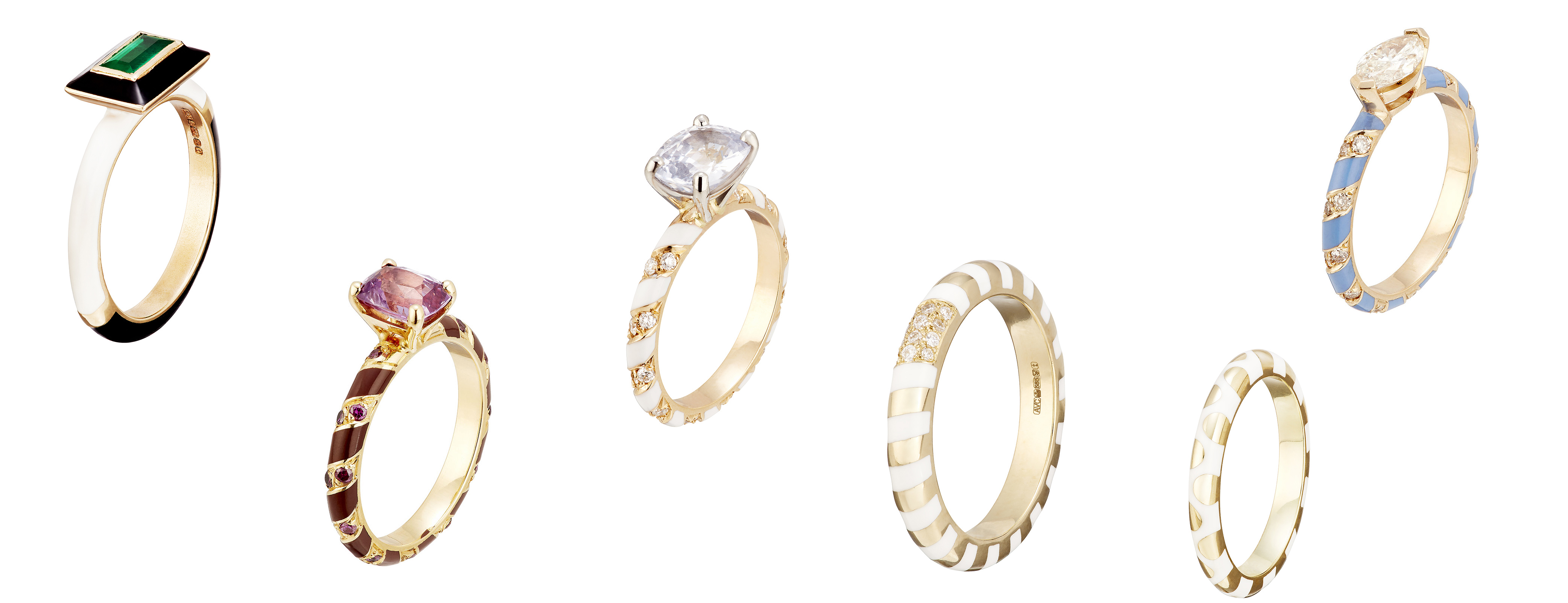 Alice Cicolini engagement rings and wedding bands