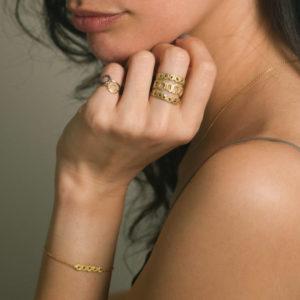 Alexandra Jacoumis gold jewellery