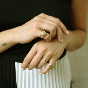 Ellis Mhairi Cameron Origins gold and diamond rings