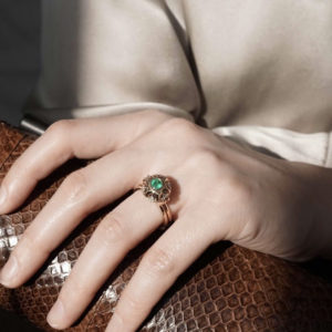 Mocielli emerald and diamond ring