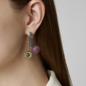 Runa Jewelry 9ct gold and gemstone earring at Moda Operandi
