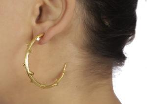 Kastur Jewels brass Branch Hoop earrings