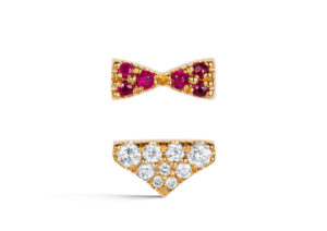 Sikri diamond and ruby stud earrings - Ama Dhami