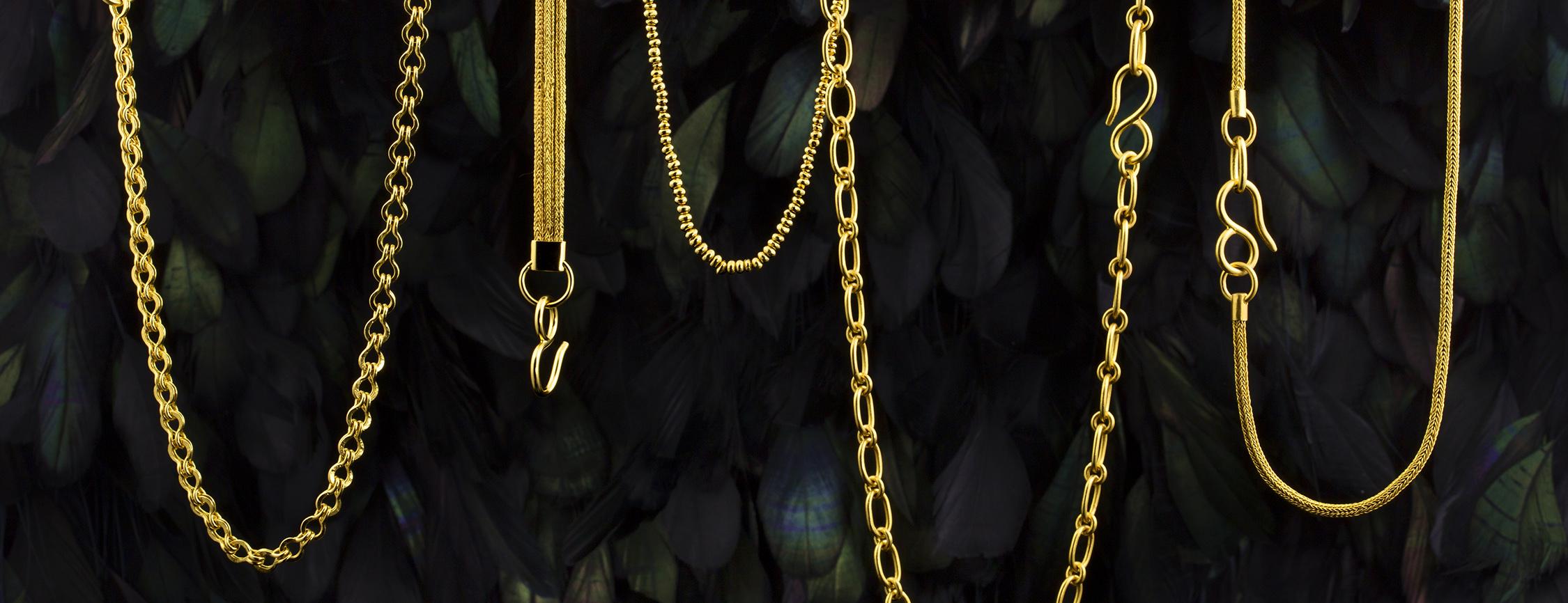 Loren Nicole 22ct gold chains