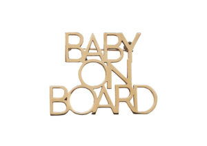 Roxanne Rajcoomar-Hadden gold-plated baby on board brooch