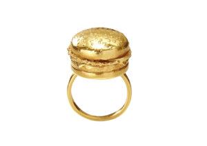 Roxanne Rajcoomar-Hadden gold-plated silver Burger locket ring