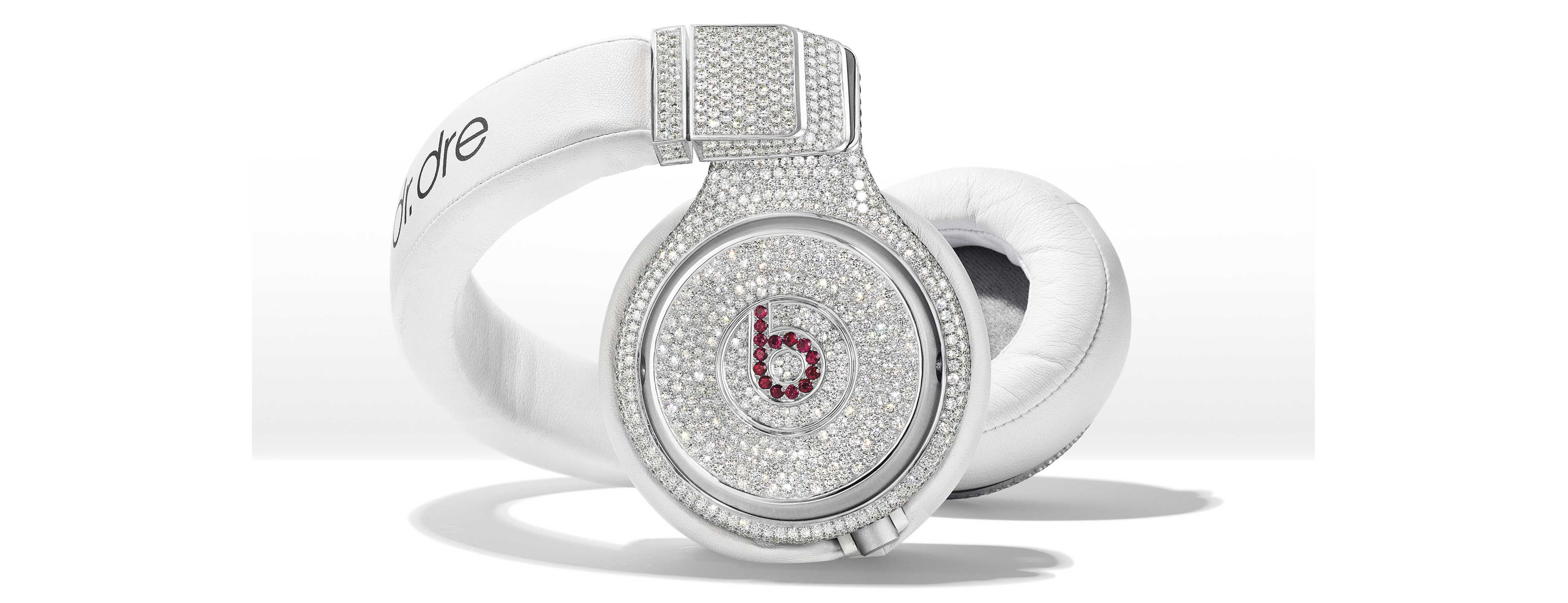 DIAMOND AND RUBY 'BEATS PRO' HEADPHONES, GRAFF-art-b
