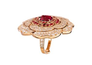 Chanel 18ct rose gold, diamond and red spinel transformable Rouge Tentation ring