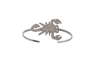 Vanessa Pederzani gold and diamond Scorpion cuff