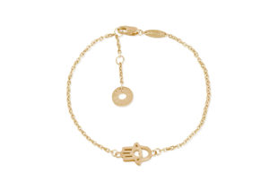 Drajée 18ct yellow gold Hamsa Hand bracelet