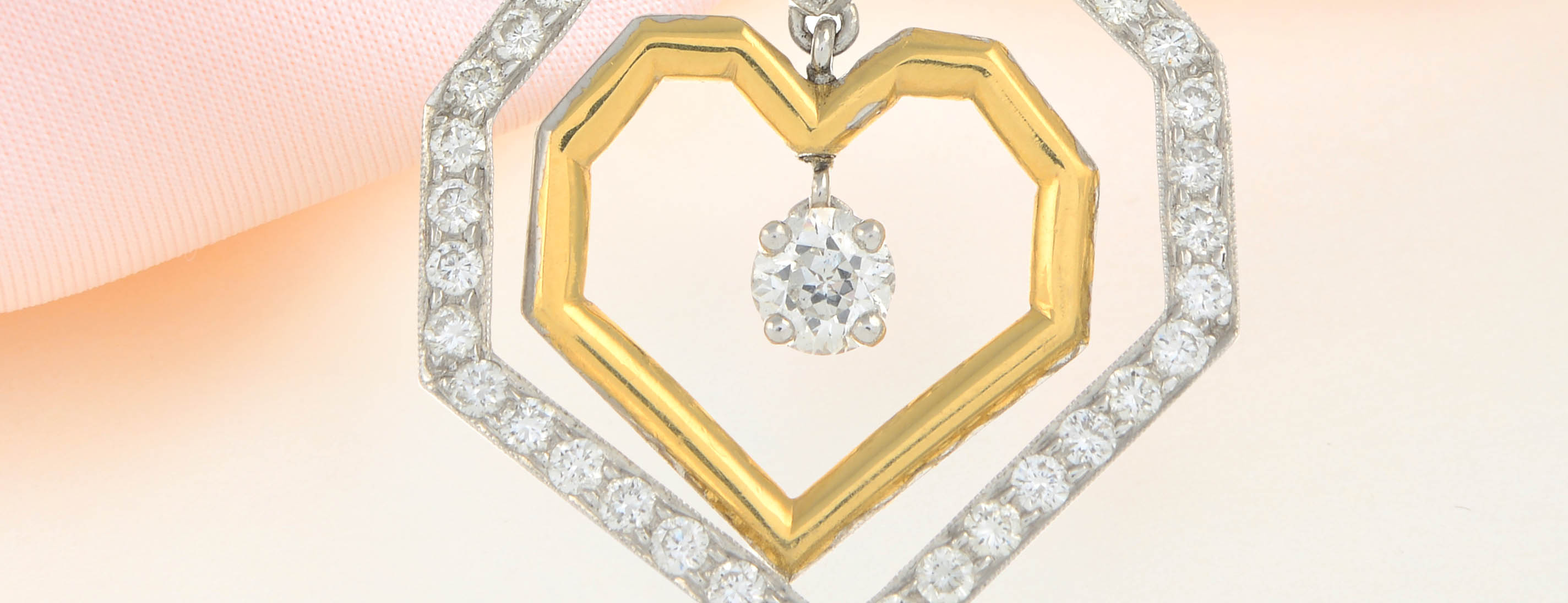 Phil Collins heart necklace at Fellow auction