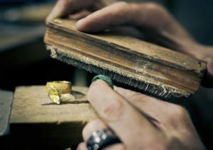 The Goldsmiths Company jeweller at bench
